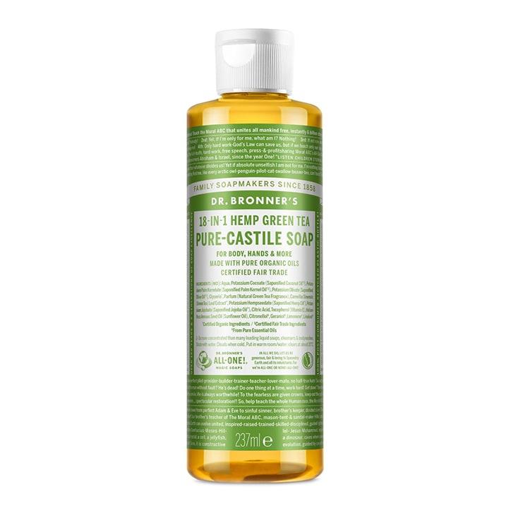 Dr Bronner's Green Tea Pure-Castile Liquid Soap 237ml
