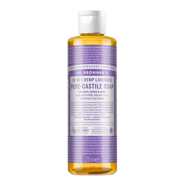 Dr Bronner's Lavender Pure-Castile Liquid Soap 237ml