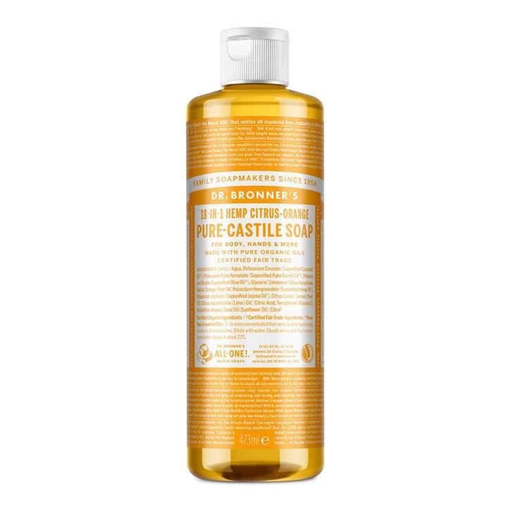 Dr Bronner's Citrus Orange Pure-Castile Liquid Soap
