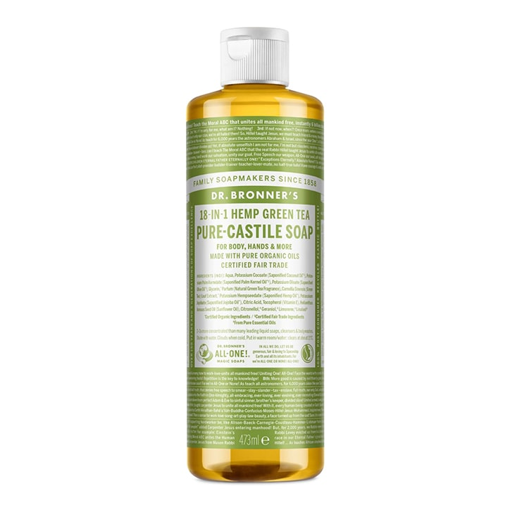Dr Bronner's Green Tea Pure-Castile Liquid Soap 473ml