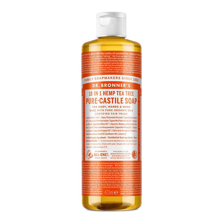 Dr Bronner's Tea Tree Pure-Castile Liquid Soap 473ml