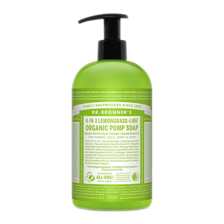 Dr Bronner's Sugar Lemongrass Lime Organic Pump Soap 710ml