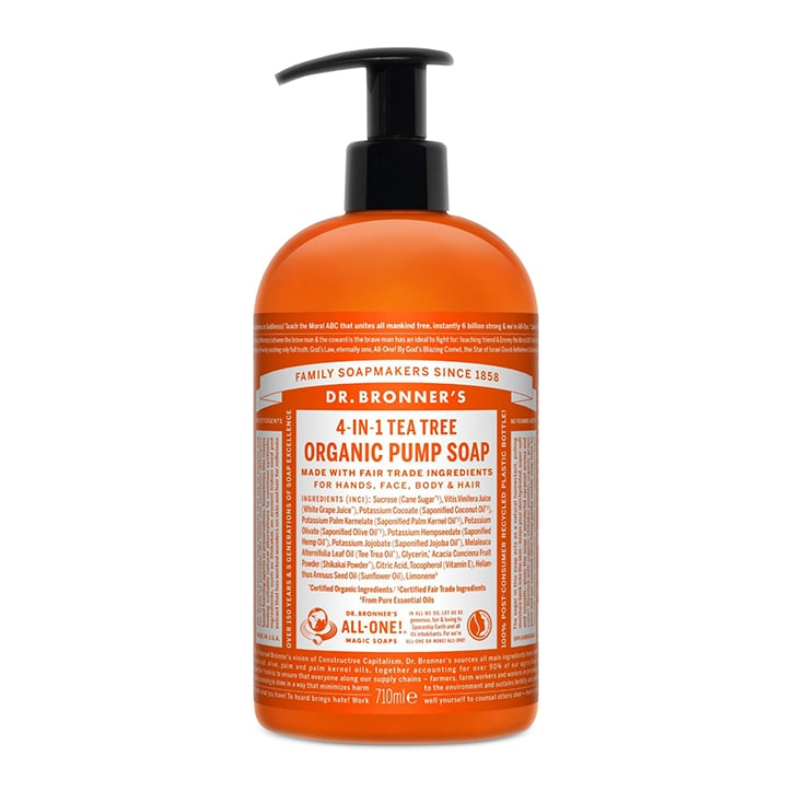 Dr Bronner's Sugar Tea Tree Organic Pump Soap
