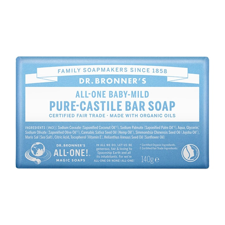 Dr Bronner's - All-One Baby-Mild Pure-Castile Bar Soap 140g