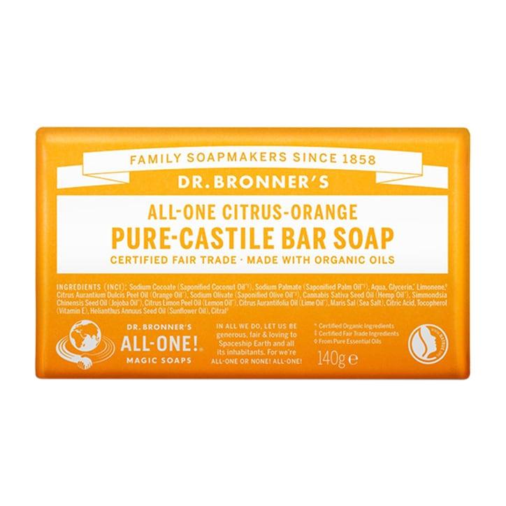 Dr Bronner's - All-One Citrus-Orange Pure-Castile Bar Soap 140g