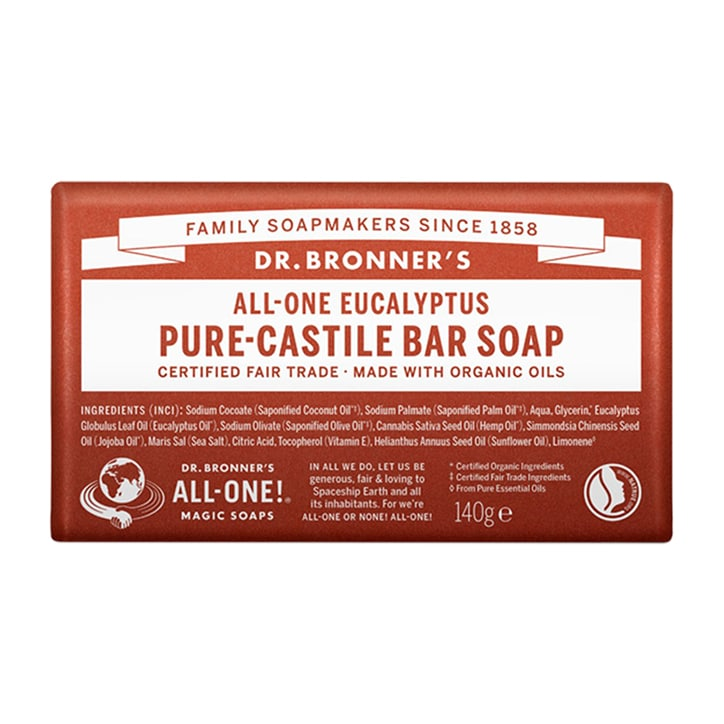 Dr Bronner's - All-One Eucalyptus Pure-Castile Bar Soap 140g