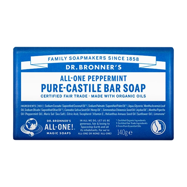 Dr Bronner's - All-One Peppermint Pure-Castile Bar Soap 140g