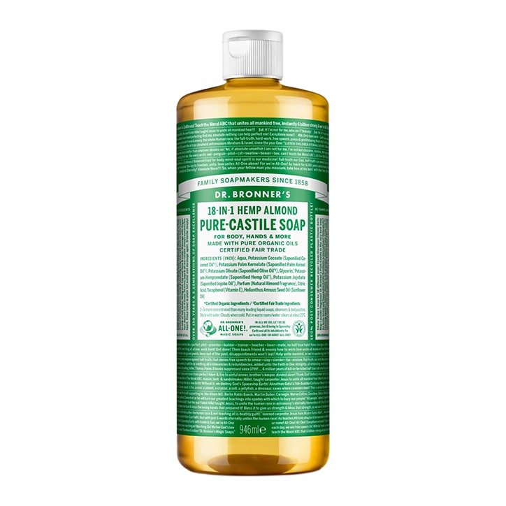 Dr Bronner's Almond Pure-Castile Liquid Soap