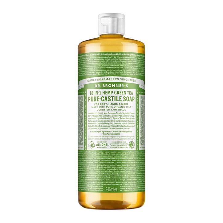Dr Bronner's Green Tea Pure-Castile Liquid Soap 946ml