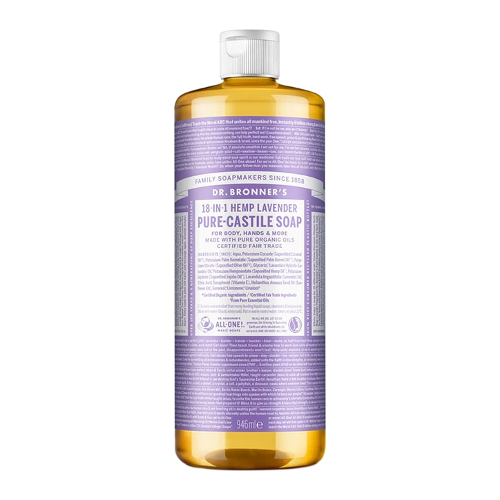 Dr Bronner's Lavender Pure-Castile Liquid Soap 946ml