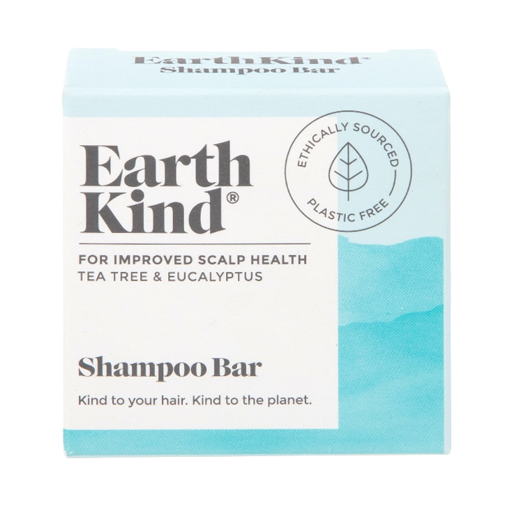 Earth Kind Tea Tree & Eucalyptus Shampoo Bar for Improved Scalp Health.