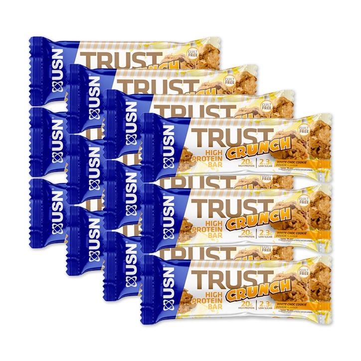 USN Trust Crunch Protein Bar White Choc 12x60g
