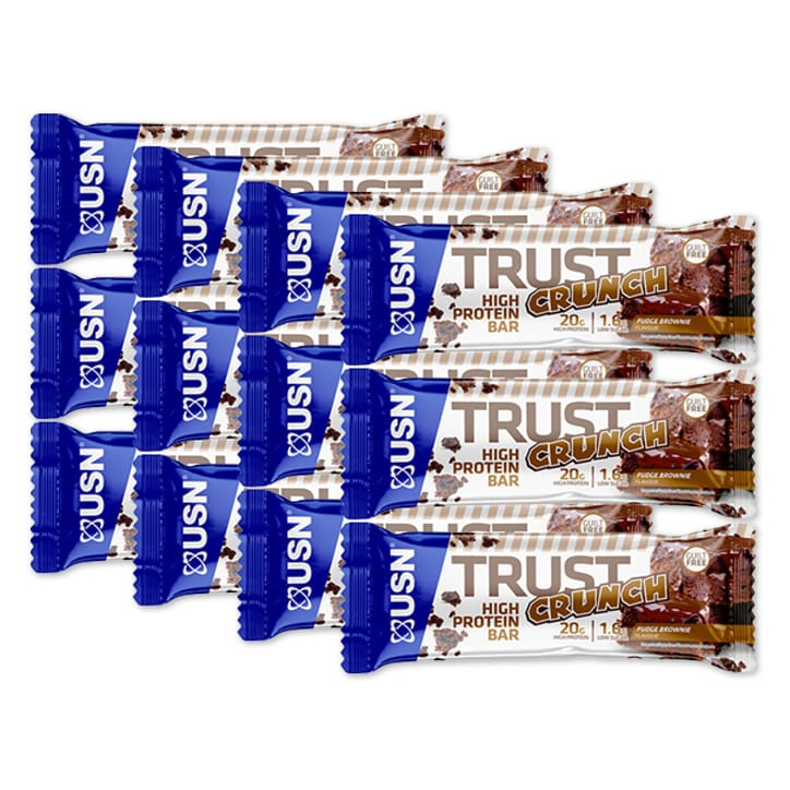 USN Trust Crunch Bar Fudge Brownie 12 x 60g