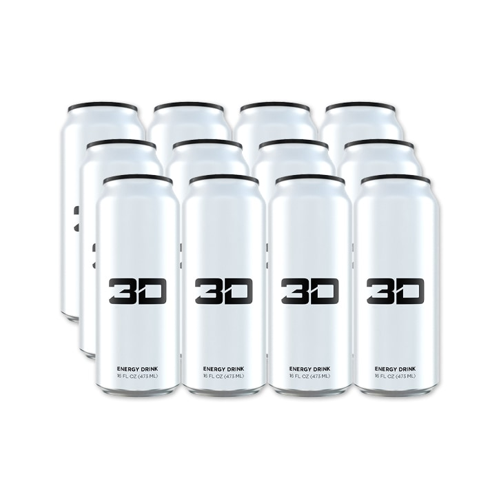 3D Energy White Box 12 x 473ml