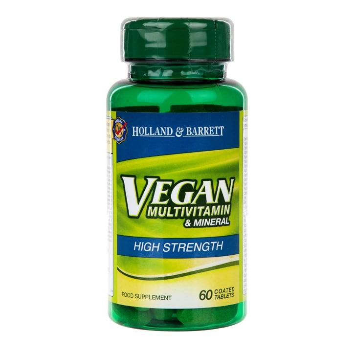 Holland & Barrett Vegan High Strength Multivitamins 60 Tablets