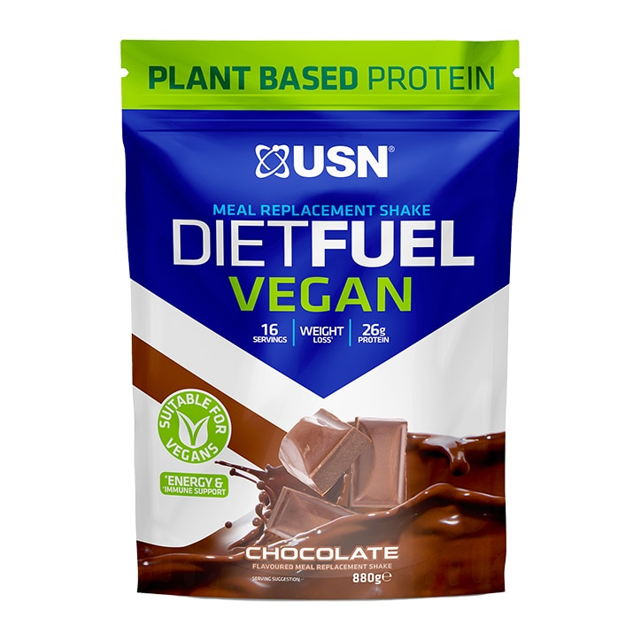 USN Diet Fuel Vegan Meal Replacement Shake Chocolate 880g