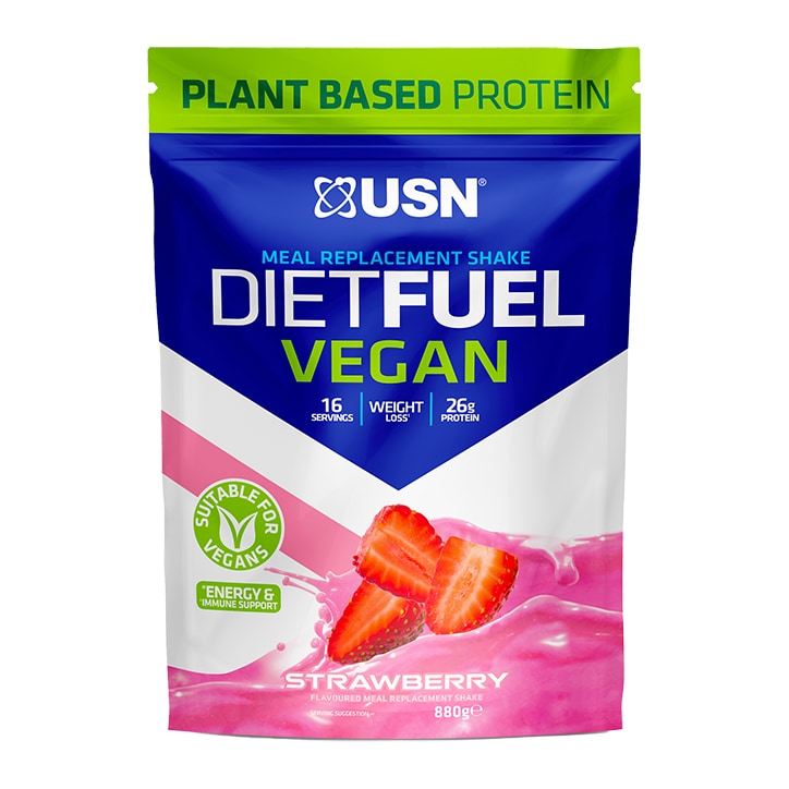 USN Diet Fuel Vegan Meal Replacement Shake Strawberry 880g