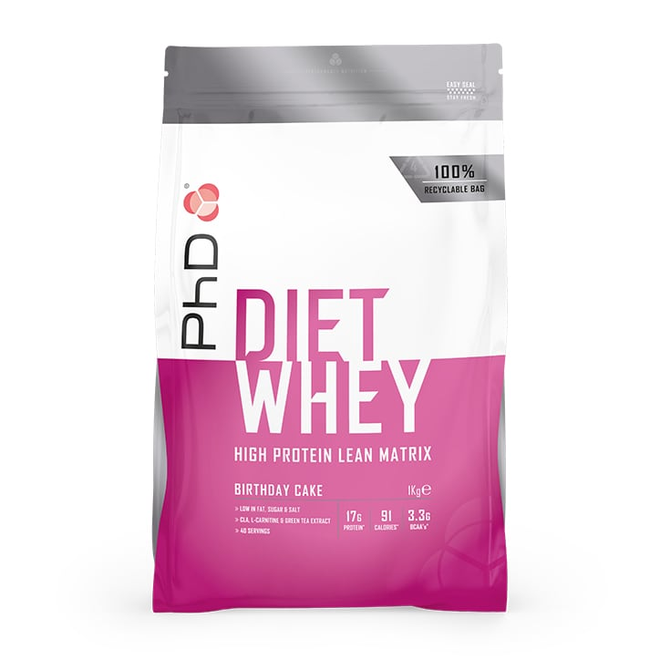 PhD Diet Whey Powder Birthday Cake 1000g