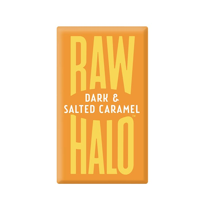 Raw Halo Vegan Dark & Salted Caramel Raw Chocolate 22g