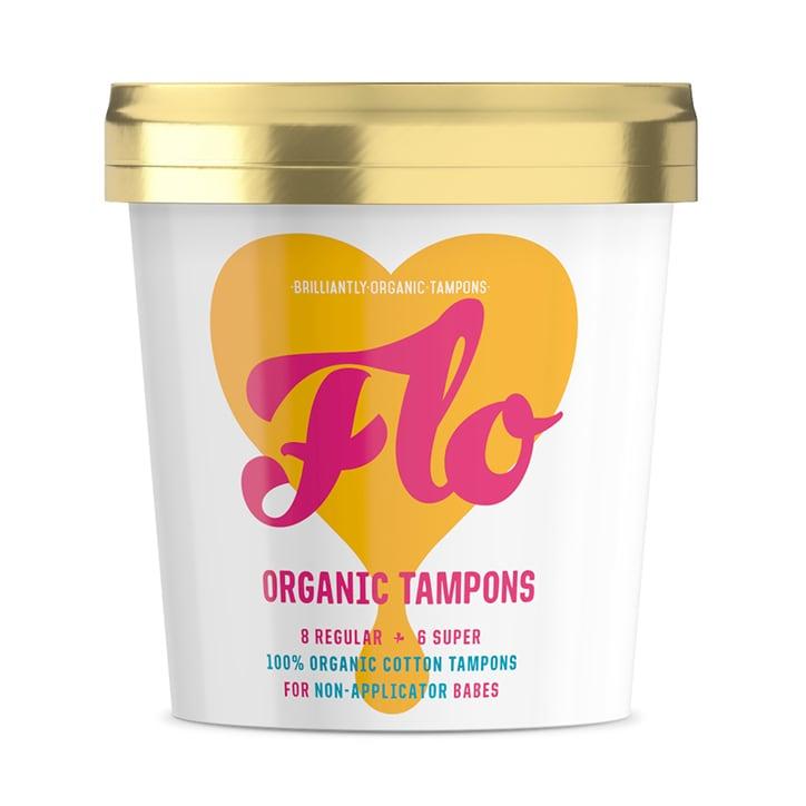 Flo Organic Non-Applicator Tampons - Regular/Super Combo 16 pack