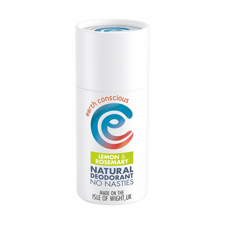 Earth Conscious Natural Deodorant Stick - Lemon & Rosemary 60g