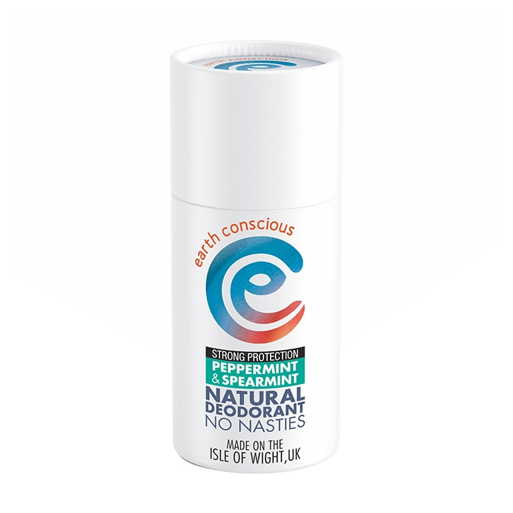 Earth Conscious Natural Deodorant Stick - Peppermint & Spearmint 60g