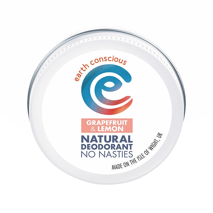 Earth Conscious Natural Deodorant Balm - Grapefruit & Lemon 60g