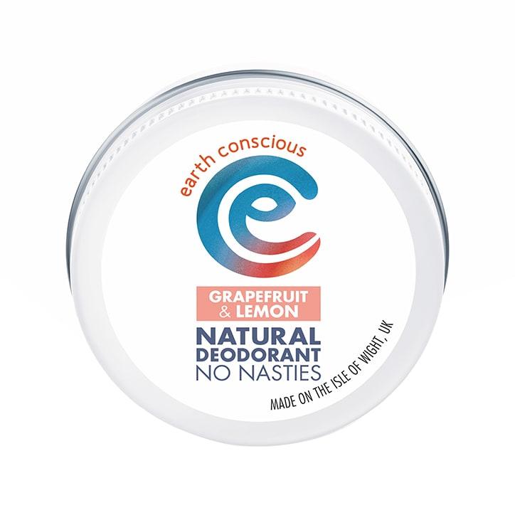 Earth Conscious Natural Deodorant Balm - Grapefruit & Lemon