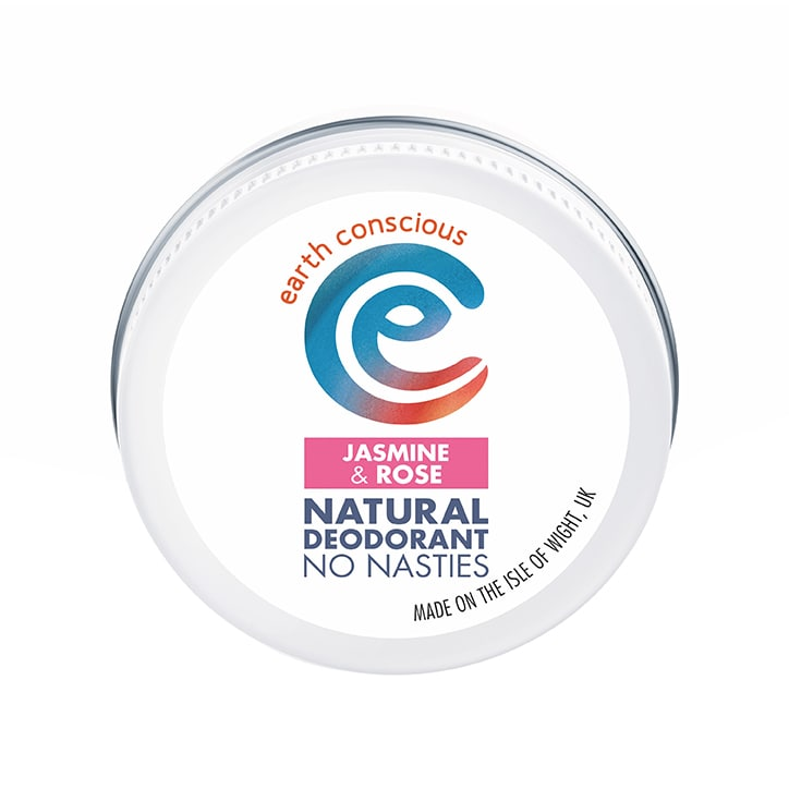 Earth Conscious Natural Deodorant Balm - Jasmine & Rose 60g
