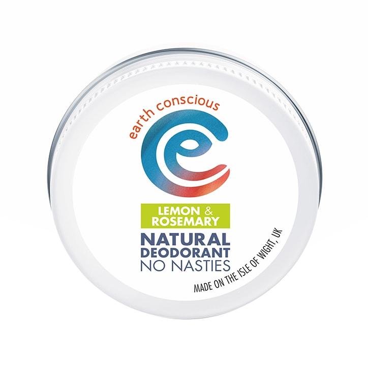 Earth Conscious Natural Deodorant Balm - Lemon & Rosemary 60g