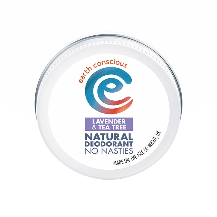 Earth Conscious Natural Deodorant Balm - Lavender & Tea Tree 60g
