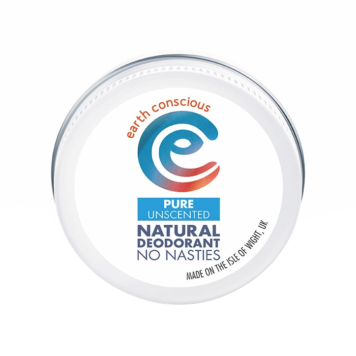 Earth Conscious Natural Deodorant Balm - Pure Unscented 60g