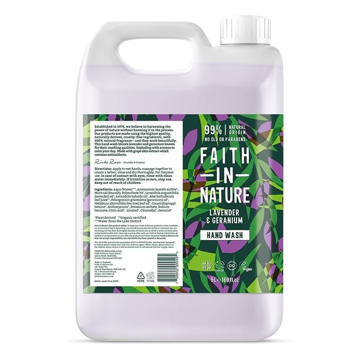 Faith In Nature Lavender & Geranium Hand Wash 5 Litre