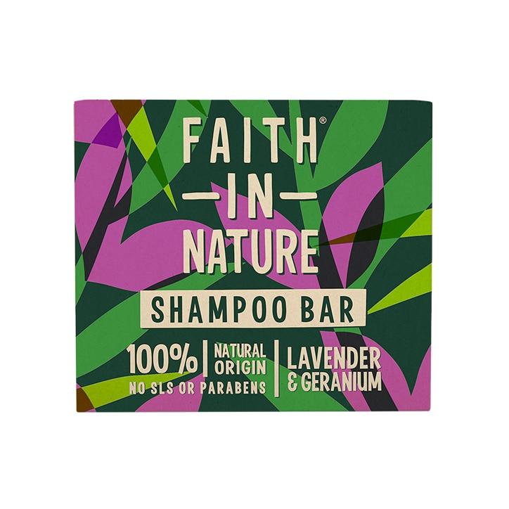 Faith in Nature - Shampoo Bar Lavender & Geranium 85g
