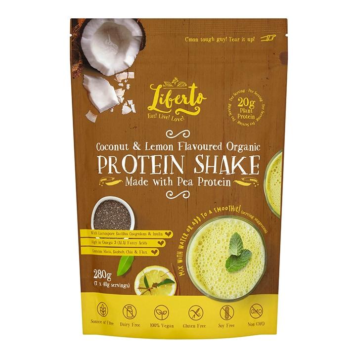 Liberto Organic Vegan Coconut Lemon Protein Shake 280g