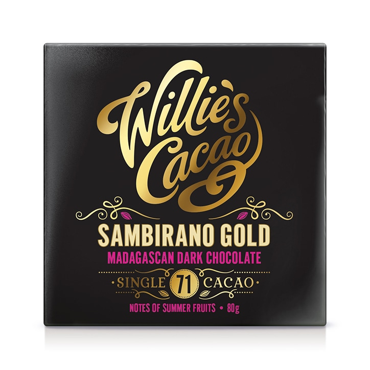 Willies Cacao Sambirano Gold Madagascan 71% Dark Chocolate 80g