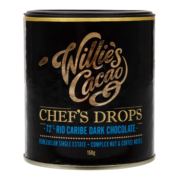 Willies Cacao Venezuelan Chefs Drops 72% Rio Caribe 150g