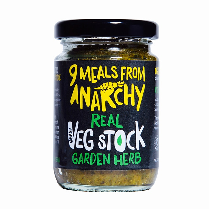 9 Meals from Anarchy Real Vegetable Stock - Garden Herb 105g