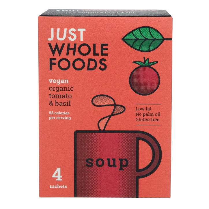 Just Wholefoods Soup In A Mug - Tomato & Basil 17g
