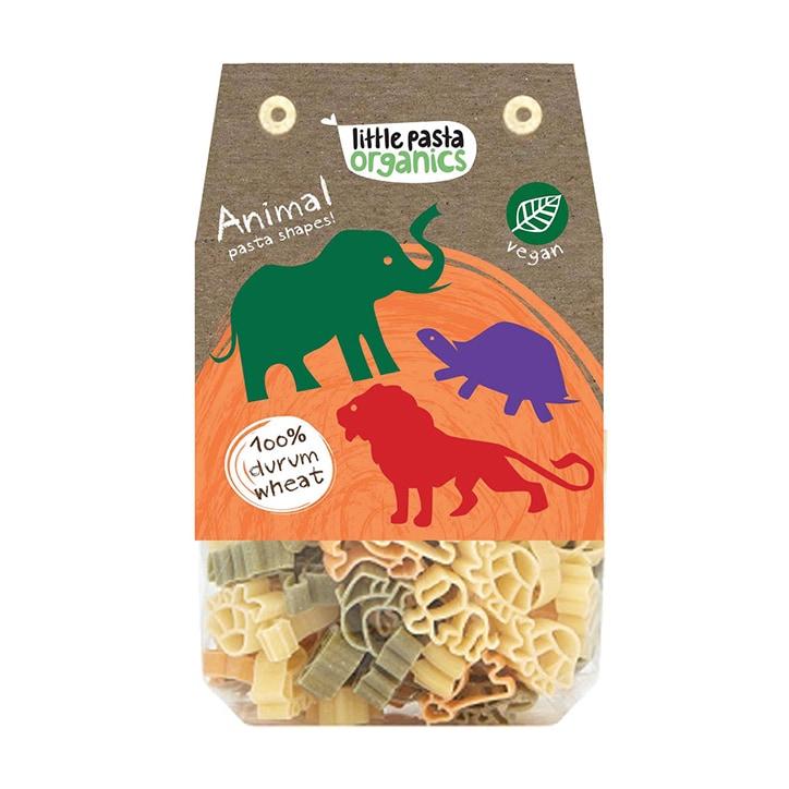 Little Pasta Org Tri Colour Animal Pasta - Spinach & Tomato 130g