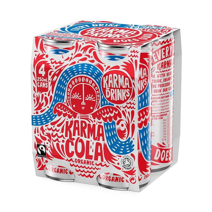 Karma Cola Fairtrade Organic Cola Multipack (250ml x 4)