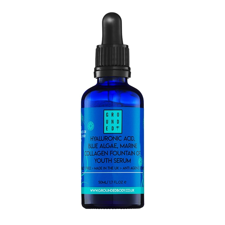 Grounded Hyaluronic Acid Blue Algae Facial Serum 50ml