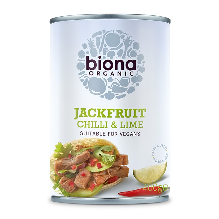 Biona Chilli Lime Jackfruit Can 400g