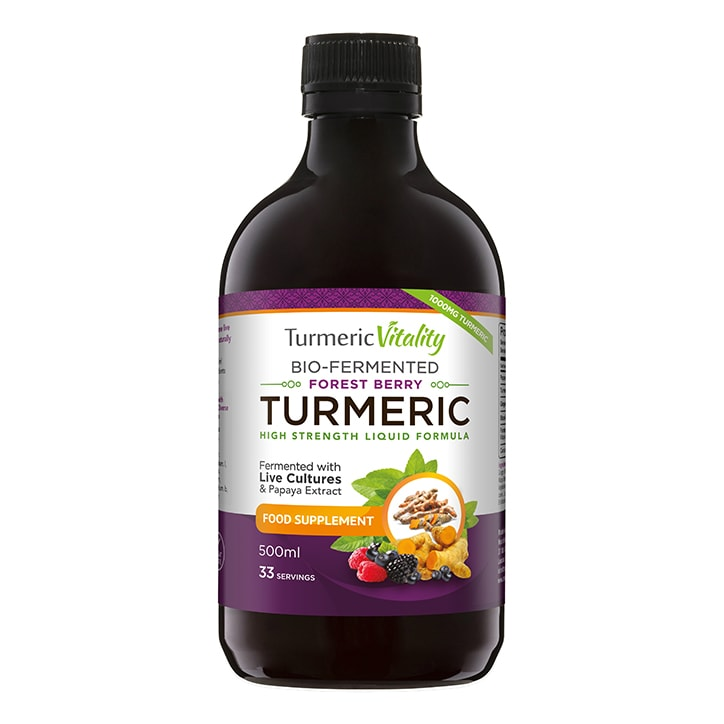 Turmeric Vitality Bio-Fermented Turmeric Liquid Forest Berry Flavour 500ml