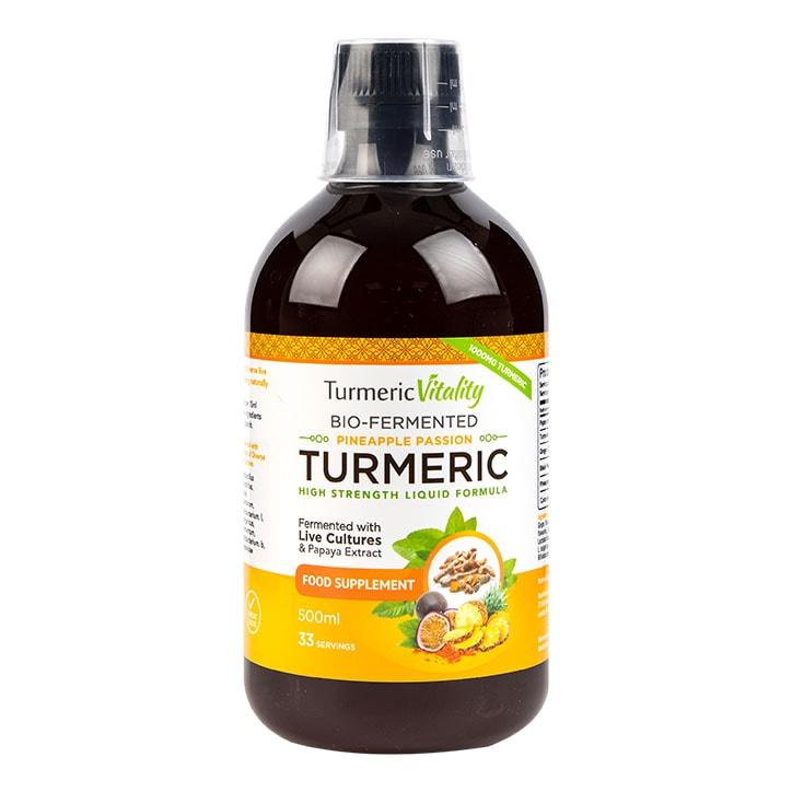 Turmeric Vitality Bio-Fermented Turmeric Liquid Pineapple Passion Flavour 500ml