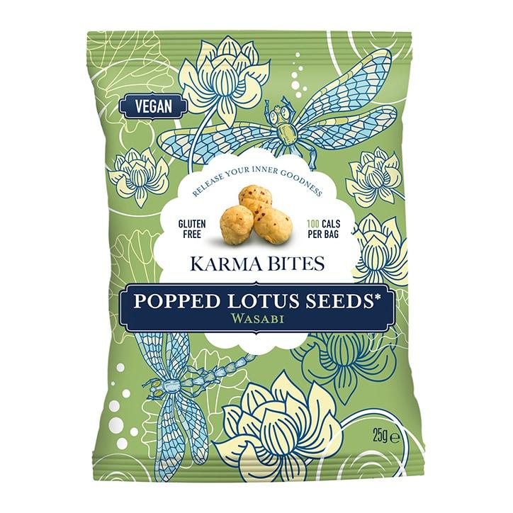 Karma Bites Popped Lotus Seeds Wasabi 25g
