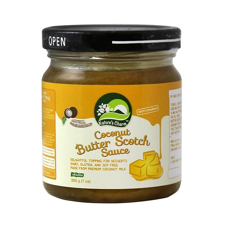 Natures Charm Coconut Butterscotch Sauce 200g