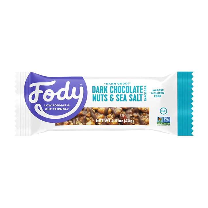 Fody Dark Chocolate Sea Salt Bar 40g