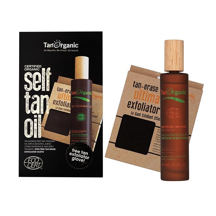 TanOrganic Self Tanning Oil & Exfoliator Glove