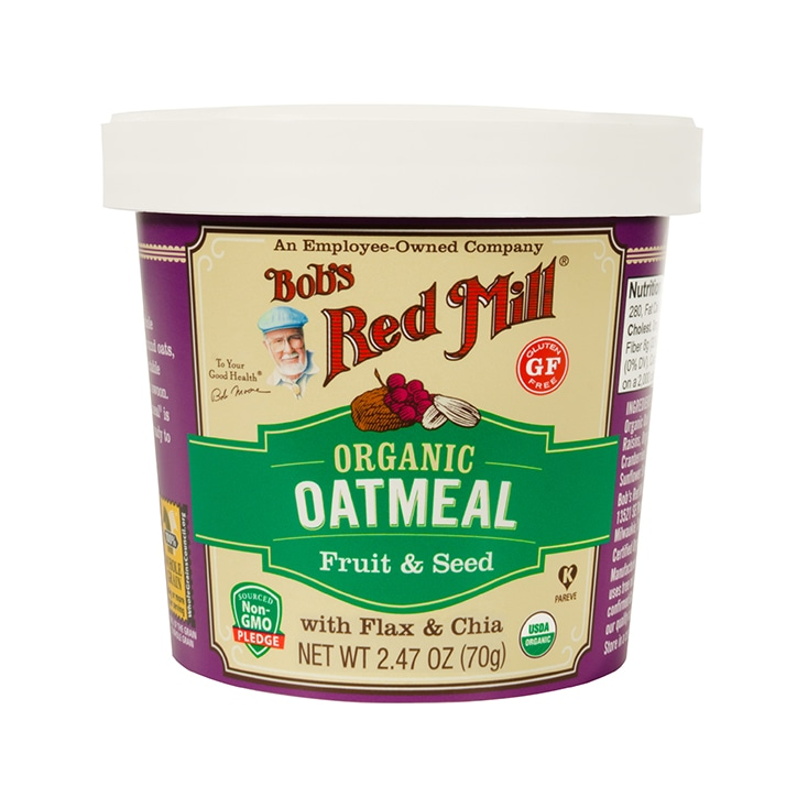 Bobs Red Mill Gluten Free Organic Fruit & Seed Oatmeal Cup 70g